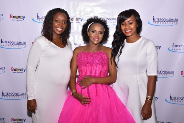 Nyambura Karuthiru, Account Director at Transcend Media Group (left), DJ Pierra Makena (Center) & Maureen Wangui, Marketing Manager at Interconsumer Products (right)  uliza