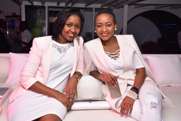Zellipah Kaniaru (left) Marketing & Communications at Internet Solutions, Kui Kamau (right) TV Hostess for Jet Set Lifestyle  uliza