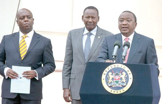 president-uhuru-kenyatta-with-interior-cabinet-secretary-joseph-nkaissery-centre-and-national-counter-terrorism-centre-director-amb-martin-kimani uliza