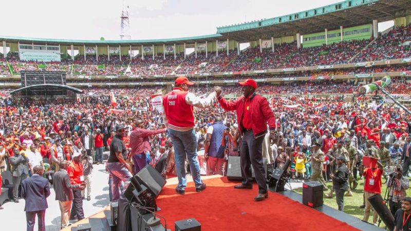 President Uhuru and Deputy William Ruto at the launch of the Jubilee Party  uliza