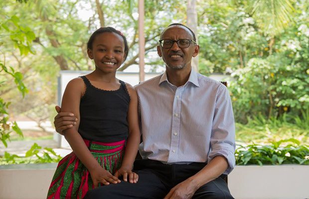 'DREAM COME TRUE' : 11 yr old Wendy Waeni Meets with President Paul Kagame