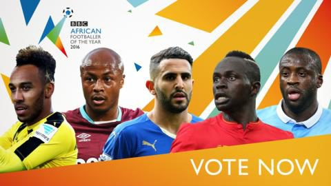 Five-man shortlist for the BBC African Footballer of the Year award announced.