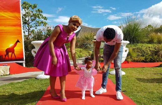 Size 8 and Dj Mo hold grand 1st birthday for their daughter Ladasha (photo's)