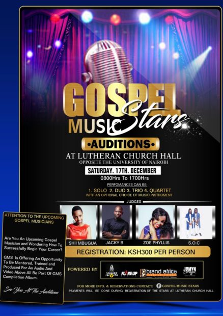 Gospel Music Stars (GMS); Talent search