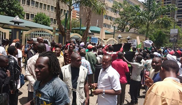 NEW TWIST : Kenyan Artistes Protest in CBD Against 'New' MPAKE That Replaced MCSK